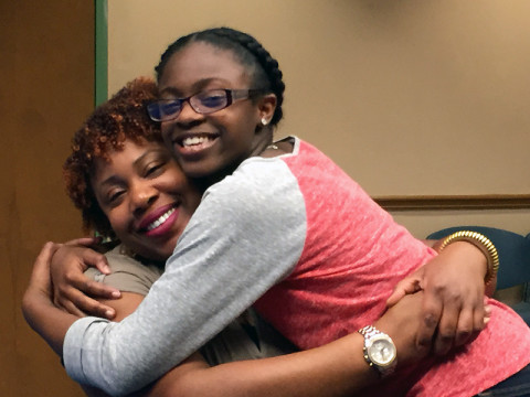 photo of A-Plus-For-Mahogany hugging
