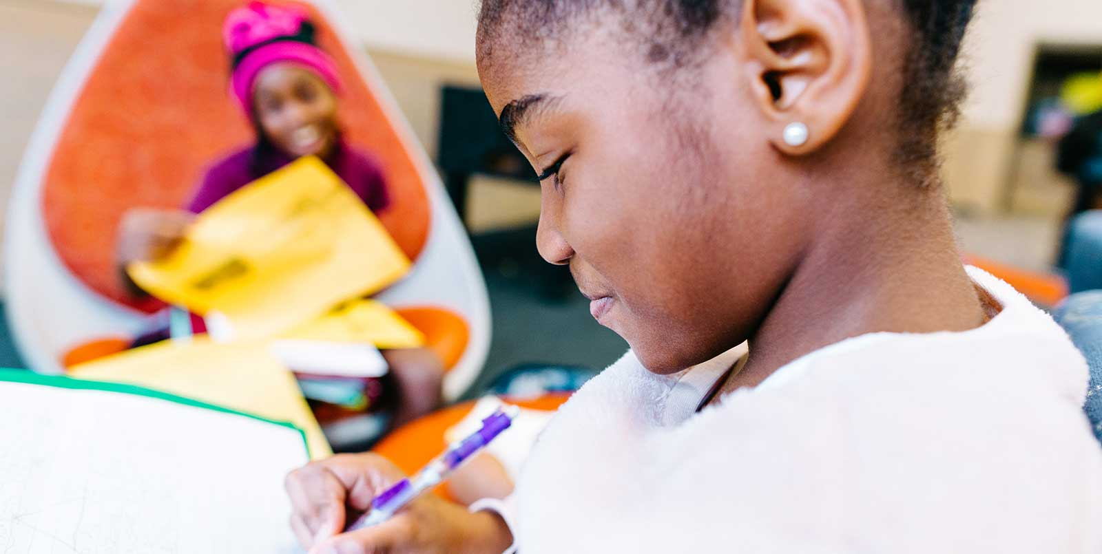 Boys & Girls Clubs of Metro Atlanta girls doing homework