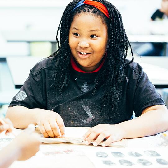 BGCMA youth doing arts and crafts