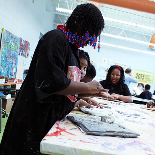BGCMA kids doing arts and crafts