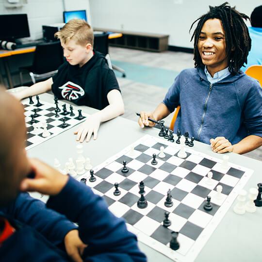 BGCMA kids playing chess