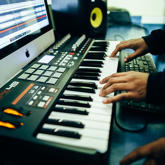 BGCMA club youth creating music