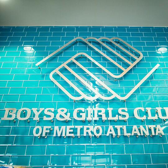 BGCMA wall sign at club entry