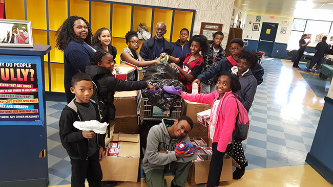Lawrenceville Club collects shoes for kids in Africa