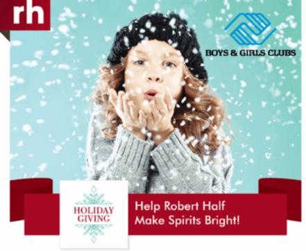 Help Robert Half Make Spirits Bright in Atlanta