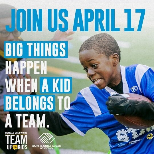 Team Up for Kids with Buffalo Wilds Wings on April 17th