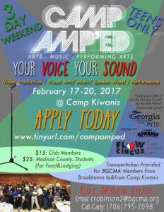 2017 Camp AMP'ED FLyer